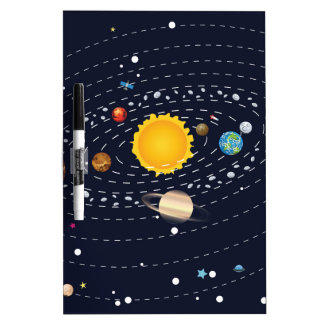 Planets of Solar System 2 Dry-Erase Board