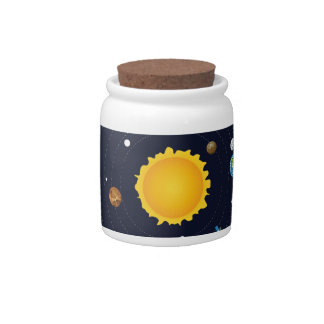 Planets of Solar System Candy Jar