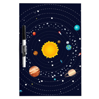 Planets of Solar System Dry-Erase Board