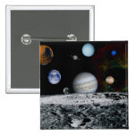 Planets of the Solar System 2 Inch Square Button