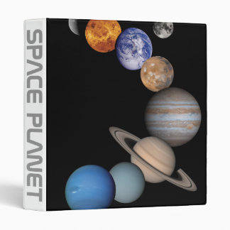 Planets of the solar system 3 ring binder