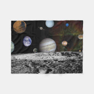 Planets of the solar system fleece blanket