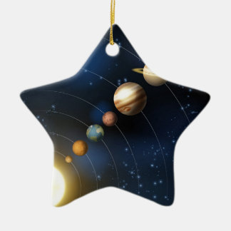 Planets of the solar system ceramic star decoration