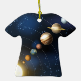 Planets of the solar system ceramic T-Shirt decoration