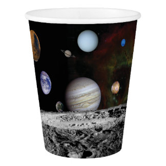 Planets of the solar system paper cup