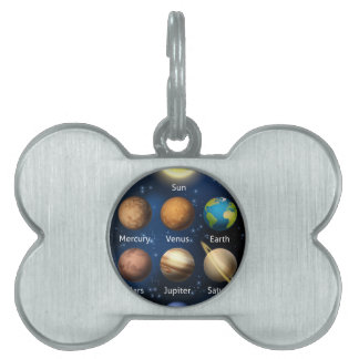 Planets of the Solar System Pet ID Tag