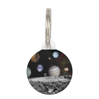 Planets of the solar system pet name tag