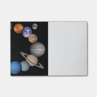 Planets of the solar system post-it notes