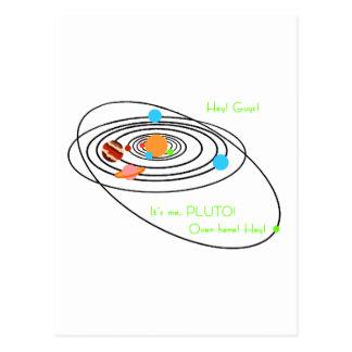 Planets poor pluto postcard
