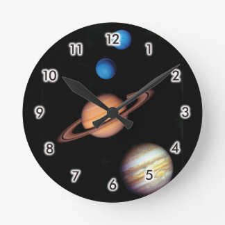 Planets Round Clock