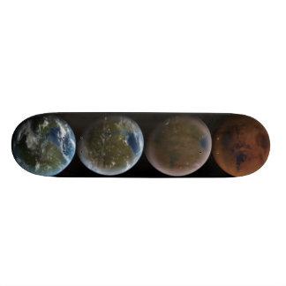 planets skateboard deck