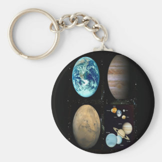 Planets solar system collage keychain