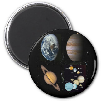 Planets solar system collage magnet