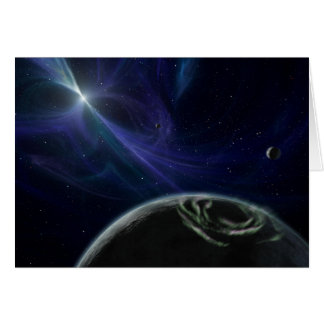 Planets with Star Pulsor on Notecard Greeting Card