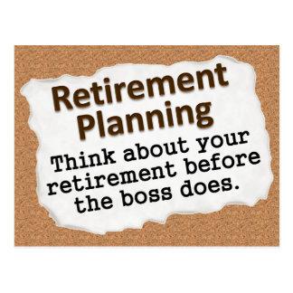 Planificación de la jubilación 2 tarjeta postal