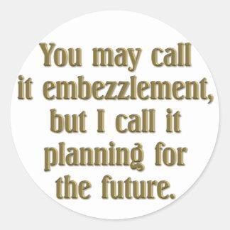 Planificación de la jubilación pegatina redonda