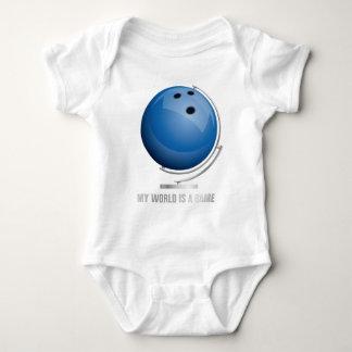 planificad bowling world globe tshirt