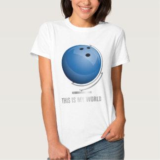 planificad bowling world globe playera