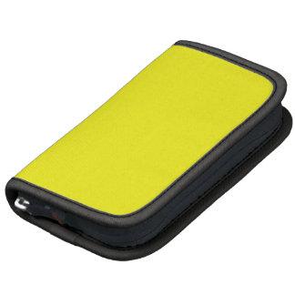 Planificador amarillo de neón brillante