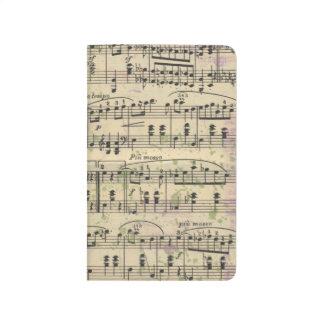 Planificador apenado del bolsillo de la música del cuadernos grapados