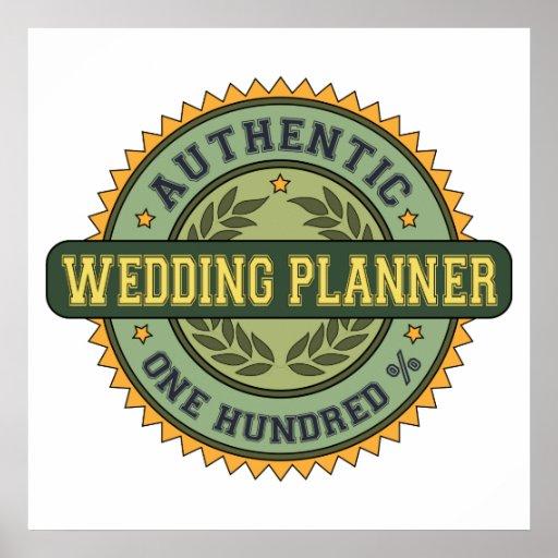 Planificador auténtico del boda posters