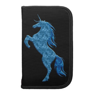 Planificador azul del folio del unicornio del fueg