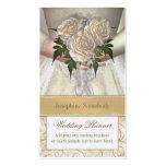 Planificador (blanco) del boda del ramo de las nov tarjeta de negocio