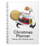 Planificador caprichoso del navidad de Santa Libretas Espirales