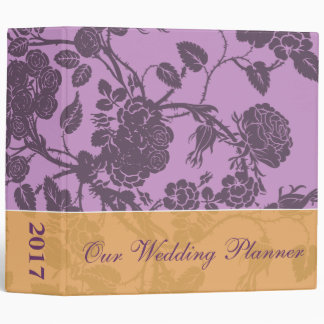 Planificador color de rosa púrpura del boda
