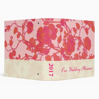 Planificador color de rosa rosado del boda