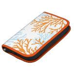 Planificador coralino anaranjado y azul del día