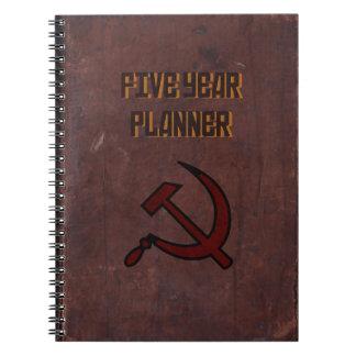 Planificador de cinco años libretas