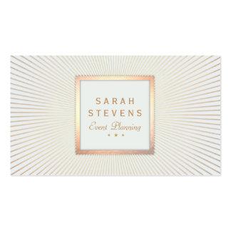 Planificador de eventos elegante del marco del oro tarjeta de visita