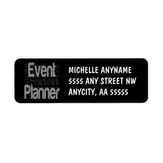 Planificador de eventos Extraordinaire Etiqueta De Remitente