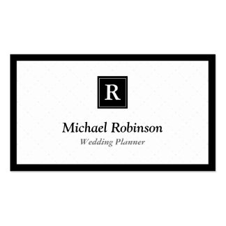 Planificador de eventos - monograma elegante tarjetas de visita