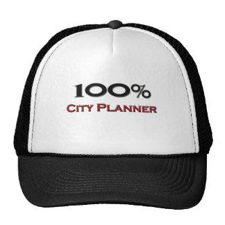 Planificador de la ciudad del 100 por ciento gorro de camionero