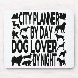 Planificador de la ciudad del amante del perro tapetes de raton