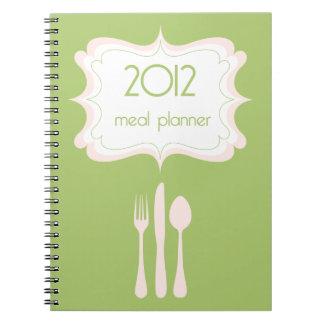 Planificador de la comida libros de apuntes