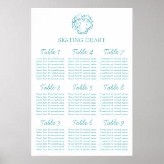 Planificador de la tabla del asiento del boda de póster