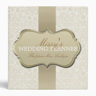 Planificador de marfil del boda del cordón