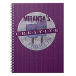 Planificador de proyecto creativo libro de apuntes
