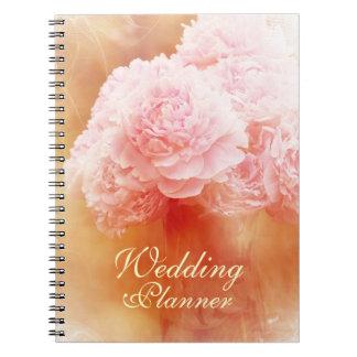 Planificador de ruborización hermoso del boda del  spiral notebook