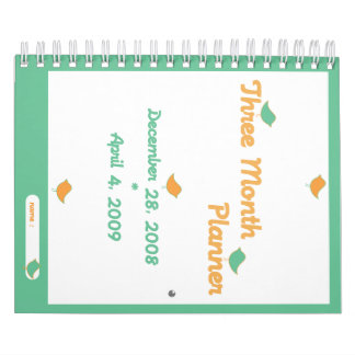 Planificador de tres meses calendarios
