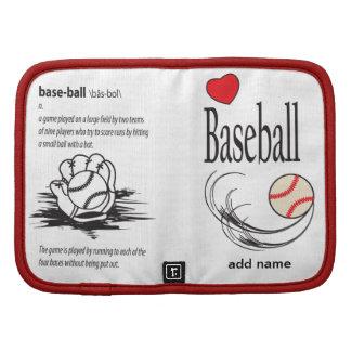 Planificador del béisbol del amor
