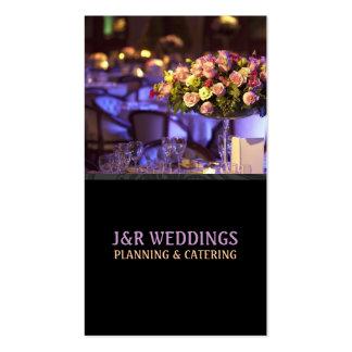 Planificador del boda abastecimiento comida res tarjeta de visita