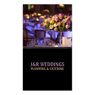 Planificador del boda, abastecimiento, comida, tarjeta de visita