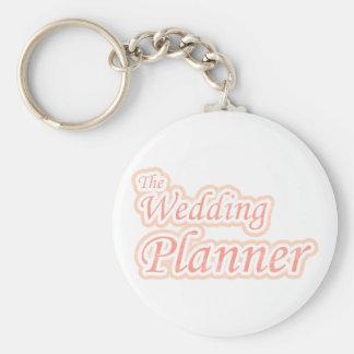 Planificador del boda de la extravagancia llavero personalizado