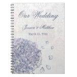 Planificador del boda de la flor del hydrangea del cuadernos