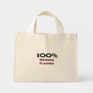 Planificador del boda del 100 por ciento bolsas lienzo