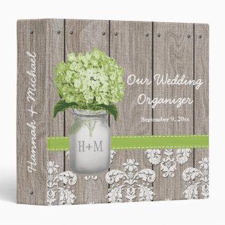 Planificador del boda del Hydrangea del verde del